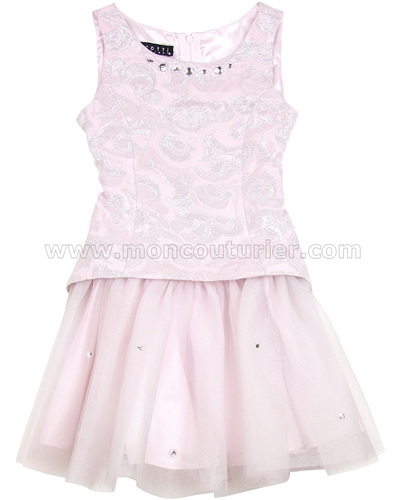 Biscotti Charmed Life Pink Dress with Tulle Bottom