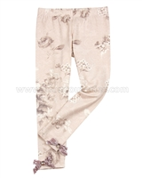 Kate Mack Royal Shimmer Floral Leggings