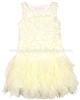 Biscotti Girls Yellow Dress with Ruffled Skirt Pick a Posy