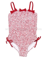 Kate Mack One Piece Swimsuit with Bows Regatta Roses