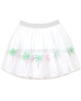 Kate Mack Skirt with Palm Print Island Hopping