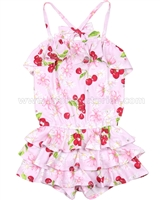 Kate Mack Romper Cherries Jubilee