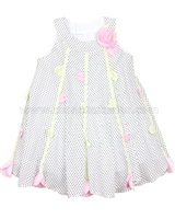 Kate Mack Voile Dress Polka Rose