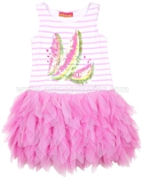 Kate Mack Ruffled Dress Wild Watermelon
