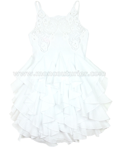 Biscotti Ruffled Dress Summer Whites