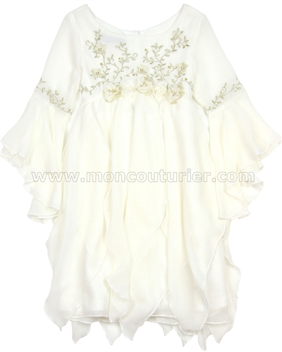 Biscotti Modern Maiden Chiffon Dress Ivory