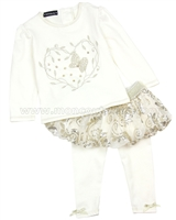 Kate Mack Spun Gold Top and Tutu Leggings Set