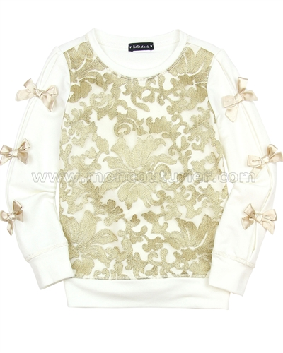 Kate Mack Spun Gold Sweatshirt Cream