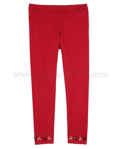 Kate Mack Fa La La Leggings Red