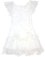 Biscotti Girls Embroidered Tulle Dress Heirloom Romance