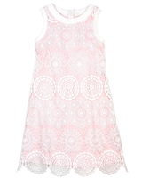 Biscotti Girls Shift Dress Crazy for Crochet Pink