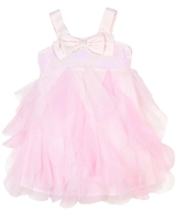 Kate Mack Little Girls' Tulle Petals Dress Pompom Party