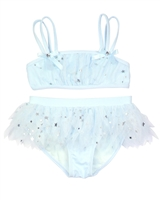 Kate Mack Girls' Skirted Bikini Fairy Dance Blue