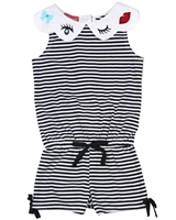 Kate Mack Girls' Striped Romper Oodles of Doodles