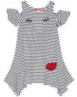 Kate Mack Girls' Striped Jersey Dress Oodles of Doodles