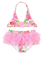 Kate Mack Girls' Skirted Bikini Rose Parfeit