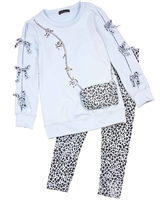 Kate Mack Animal Magic Tunic and Leggings Set in Blue