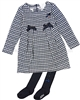 Le Chic Baby Girl Houndstooth Dress with Tights