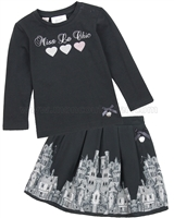 Le Chic Baby Girl T-shirt and Printed Skir