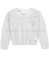Le Chic Baby Girl Light Gray Cardigan with Crystals