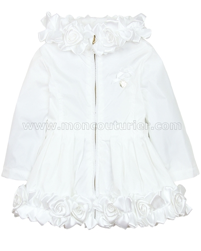 Le Chic Baby Girl Coat with Satin Rosettes
