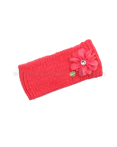 Le Chic Knit Headband Coral