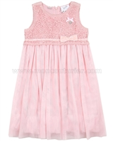 Le Chic Tulle Dress with Guipure Top Pink