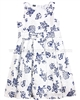 Le Chic Poplin Jacquard Dress Navy