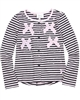 Le Chic Striped Jersey Cardigan