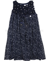 Le Chic Spotted Dress Navy