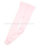 Le Chic Nylon Tights with Rhinestones Pink
