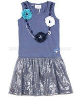 Le Chic Dress with Flower Chains