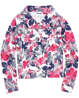 Le Chic Floral Print Twill Jacket