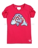 Le Chic T-shirt with Fish Raspberry