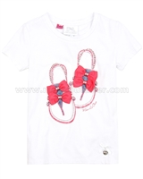 Le Chic T-shirt with Shoes White