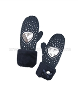 Le Chic Mittens Navy