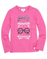 Le Chic T-shirt with Glasses Hot Pink