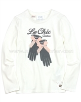 Le Chic White T-shirt with Gloves