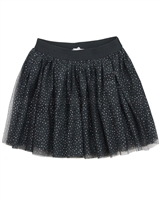 Le Chic Dark Gray Sparkly Tulle