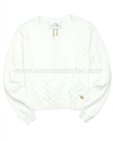 Le Chic Girls' Square Knit Cardigan