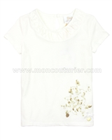 Le Chic Girls' T-shirt with Glitter