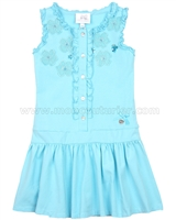 Le Chic Girls' Blue Jersey Dress