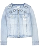 Le Chic Girls' Denim Jacket with Flowers