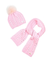 Le Chic Hat and Scarf Pink