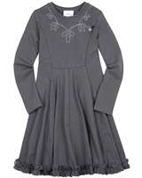 Le Chic Jersey Dress with Ruffled Bottom