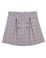 Le Chic Tweed Skirt with Buttons