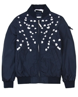 Le Chic Girls' Embroidered Bomber Jacket