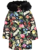 Love Made Love Floral Goose Down Coat with Fox Fur