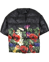 Love Made Love Quilted Down Vest in Floral Print