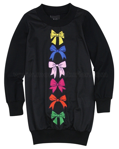 Love Made Love Sweatshirt Dress with Multicoloured Bows